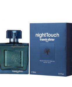 ادوتویلت مردانه فرانک اولیویه مدل Night Touch حجم ۱۰۰ میل