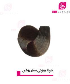 رنگ موی بلوند زیتونی بسیار روشن استایکس