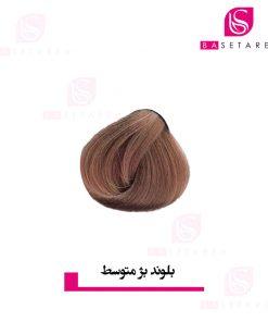 رنگ موی بلوند بژ متوسط دوپیر