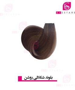 رنگ موی بلوند شکلاتی روشن یومی