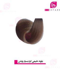 رنگ موی بلوند طبیعی بسیار روشن یومی
