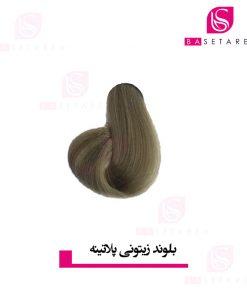 رنگ موی بلوند زیتونی پلاتینه ایتالی رژ