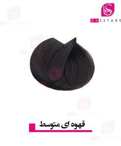 رنگ موی قهوه ای متوسط