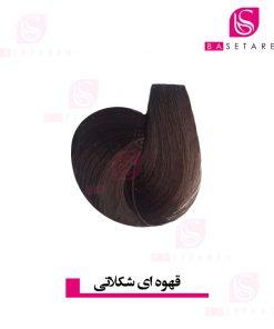 رنگ موی قهوه ای شکلاتی متوسط