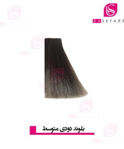 رنگ موی بلوند دودی متوسط نایس