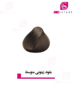 رنگ موی بلوند زیتونی متوسط
