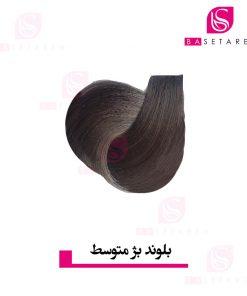 رنگ موی بلوند بژ متوسط