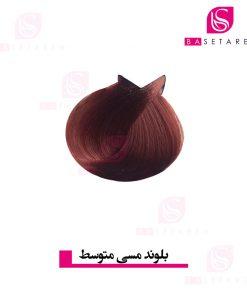 رنگ موی بلوند مسی متوسط ترام