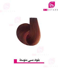رنگ موی بلوند مسی متوسط