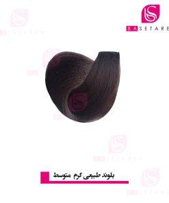 رنگ موی بلوند طبیعی گرم متوسط یومی