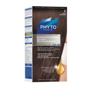 رنگ موی فندقی روشن5 phytocolor