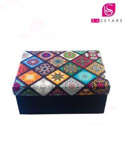جعبه کادویی مستطیل طرحدار 23×16