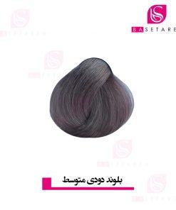 رنگ موی بلوند دودی متوسط 7K دیلنزو