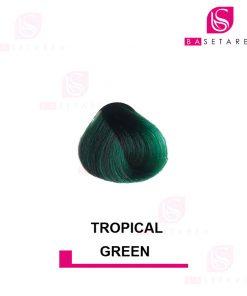 رنگ مو فانتزی TROPICAL GREEN استار گیزر