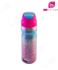 اسپری دئودورانت زنانه پلی هات مومنت مدل Lacoste Touch of Pink