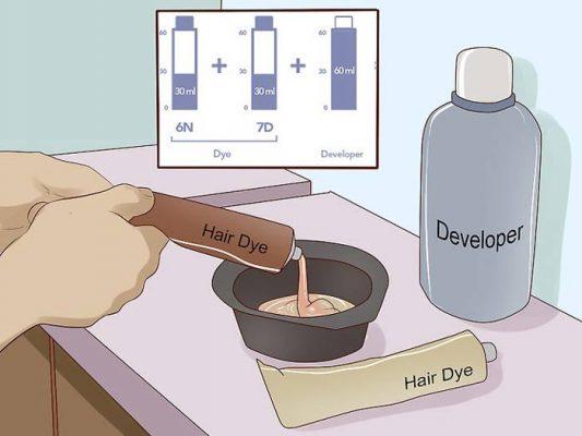 مقدار اکسیدان در رنگ مو