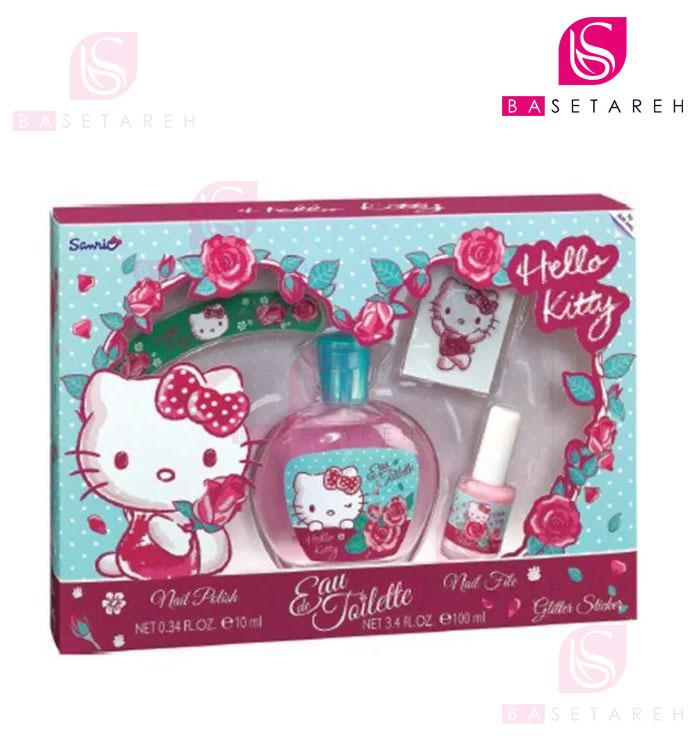 ست دخترانهادوتویلت، سوهان ناخن، لاک و گیره سر Hello Kitty