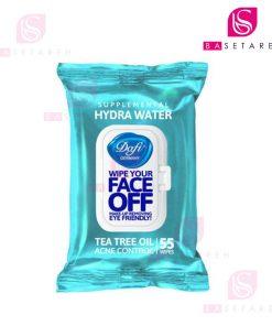 دستمال مرطوب پاک کننده آرايش دافی مدل Hydra Water