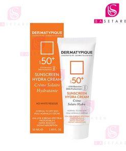 ضد آفتاب بی رنگ SPF 50 درماتیپیک مدل هیدرا مناسب پوست خشک