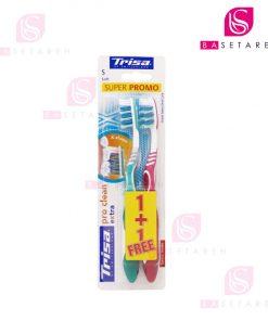 مسواک تریزا مدل Pro Clean Extra با برس نرم بسته ۲ عددی