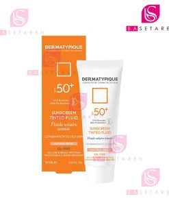 ضد آفتاب رنگی فلوئید پوست چرب درماتیپیک +SPF50 بژ طبیعی