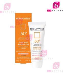 ضد آفتاب رنگی فلوئید پوست چرب درماتیپیک +SPF50 رز بژ