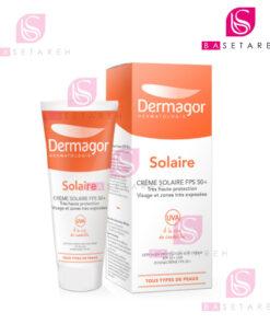 ضد آفتاب بی رنگ +SPF50 درماگور