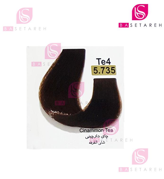 رنگ مو تاکوری سری چای شماره 5.735 چای دارچینی