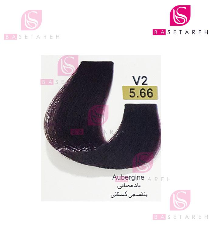 رنگ مو تاکوری سری شرابی شماره 5.66 بادمجانی