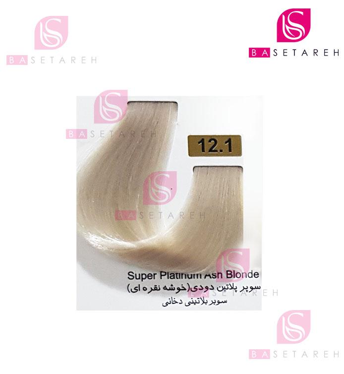 رنگ مو تاکوری سری هایلایت شماره 12.1 سوپر پلاتین دودی (خوشه نقرهای)