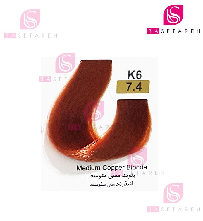 رنگ مو تاکوری سری مسی شماره 7.4 بلوند مسی متوسط