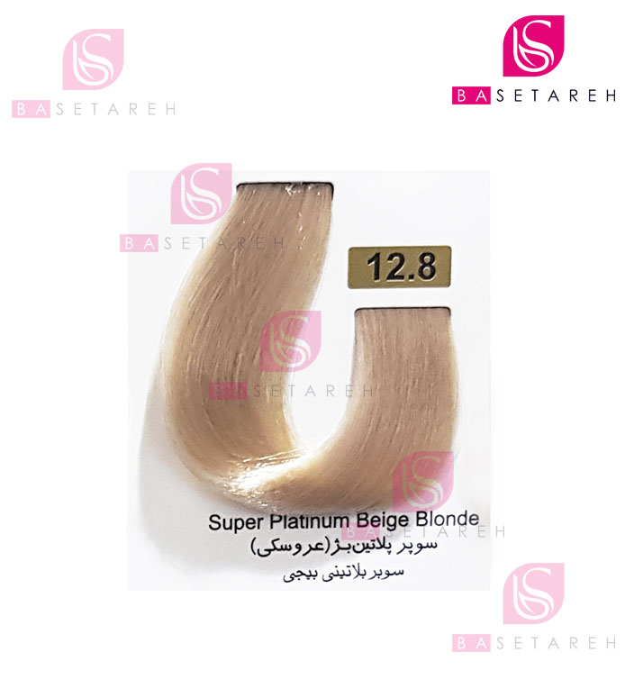 رنگ مو تاکوری سری هایلایت شماره 12.8 سوپر پلاتین بژ (عروسکی)