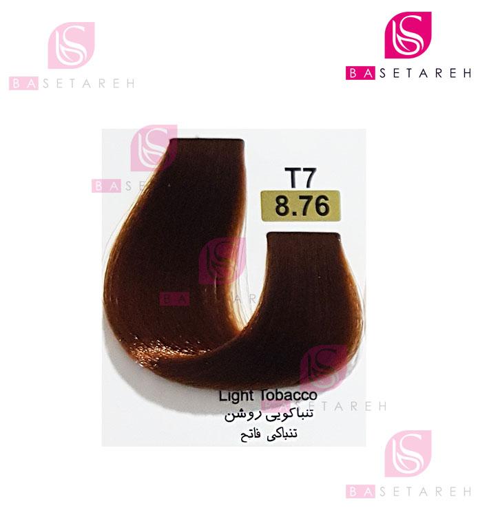 رنگ مو تاکوری سری تنباکویی شماره 8.76 تنباکویی روشن