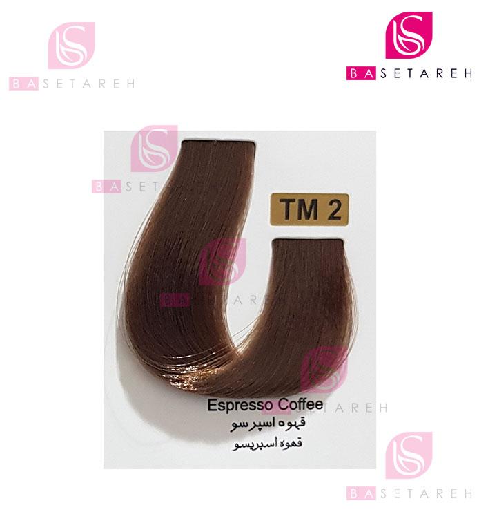رنگ مو تاکوری سری رنگهای چند ترکیبی شماره TM2 قهوه اسپرسو