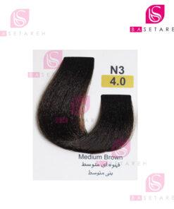 رنگ مو تاکوری سری طبیعی شماره 4.0 قهوهای متوسط