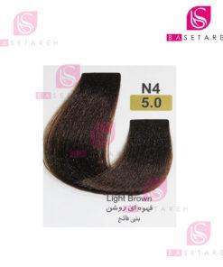 رنگ مو تاکوری سری طبیعی شماره 5.0 قهوهای روشن