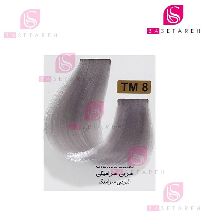 رنگ مو تاکوری سری رنگهای چند ترکیبی شماره TM8 سربی سرامیکی