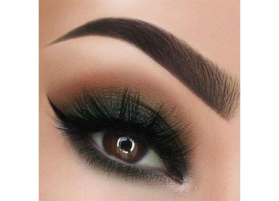آرایش چشم با سایه مشکی